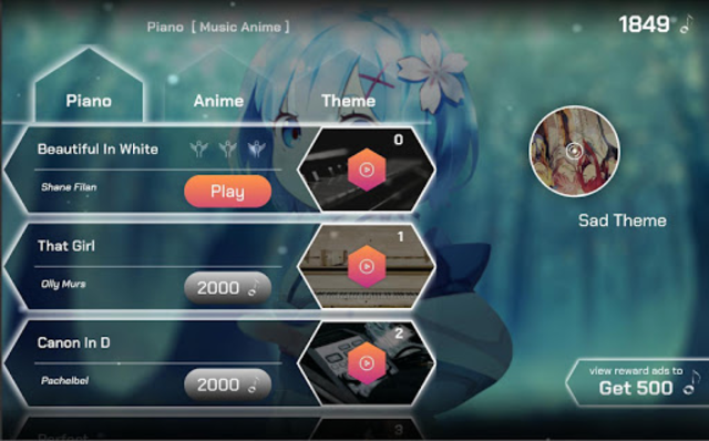 Piano Tile - The Music Anime screenshot 1