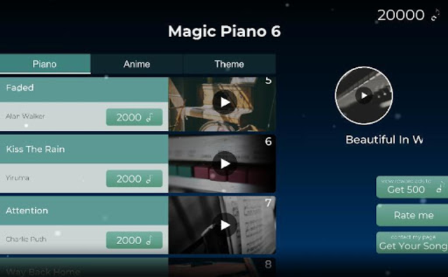 Piano Tile - The Music Anime screenshot 6