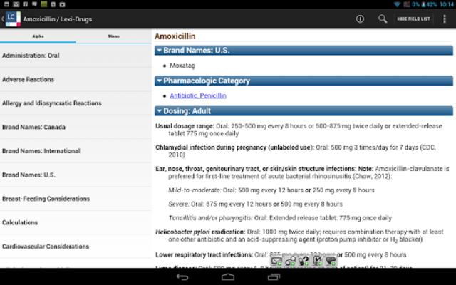 Lexicomp screenshot 10