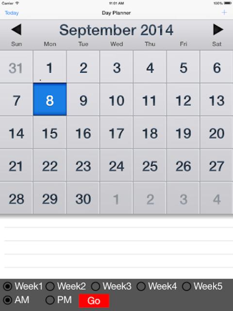 LFV Day-Planner Pro screenshot 2