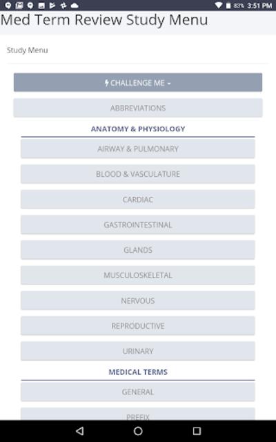 Medical Terminology Review screenshot 3