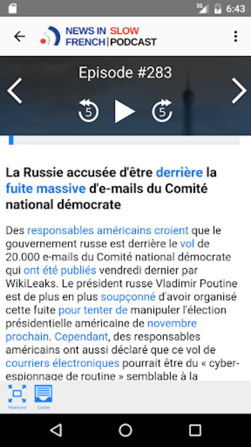 News in Slow French screenshot 2