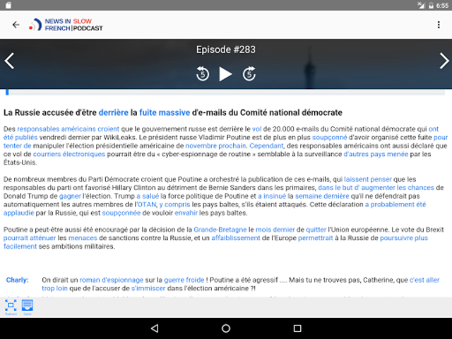 News in Slow French screenshot 8