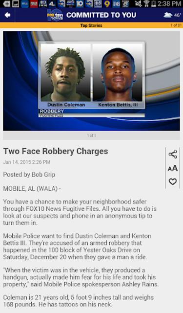 FOX10 News Mobile Alabama WALA screenshot 8