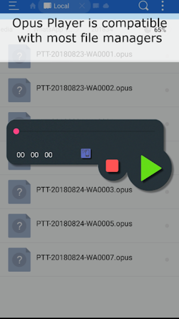 Opus Player - WhatsApp Audio Search and Organize screenshot 3