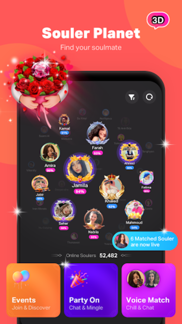 SoulChill - Find Soulmate and Group Voice Chat screenshot 1