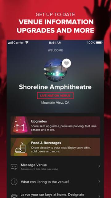 Live Nation At The Concert screenshot 3