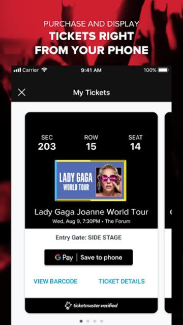 Live Nation At The Concert screenshot 5