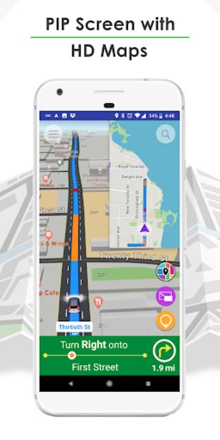GPS Navigation, Live Traffic, HD Maps - Live Roads screenshot 1