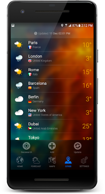 3D EARTH - accurate weather forecast & rain radar screenshot 8
