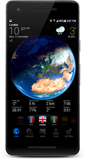 3D EARTH - accurate weather forecast & rain radar screenshot 17