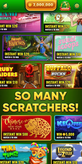 Lucky Scratch WIN REAL MONEY- it's your LUCKY DAY screenshot 1