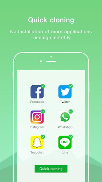 Dual Space Lite - Multiple Accounts & Clone App screenshot 3