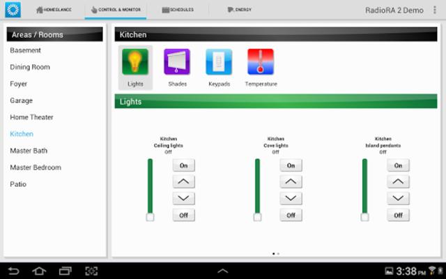 Lutron Home Control+ LEGACY screenshot 6