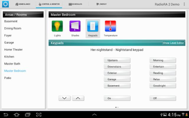 Lutron Home Control+ LEGACY screenshot 7