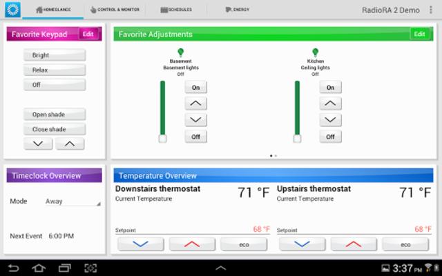 Lutron Home Control+ LEGACY screenshot 8