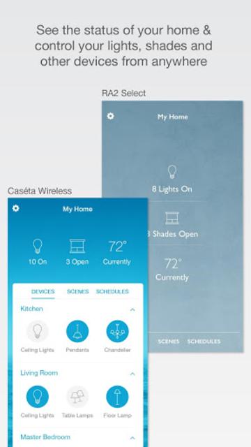 Lutron Caséta & RA2 Select app screenshot 1