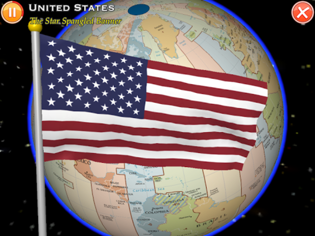 Globe Earth 3D: Flags, Anthems and Timezones screenshot 9