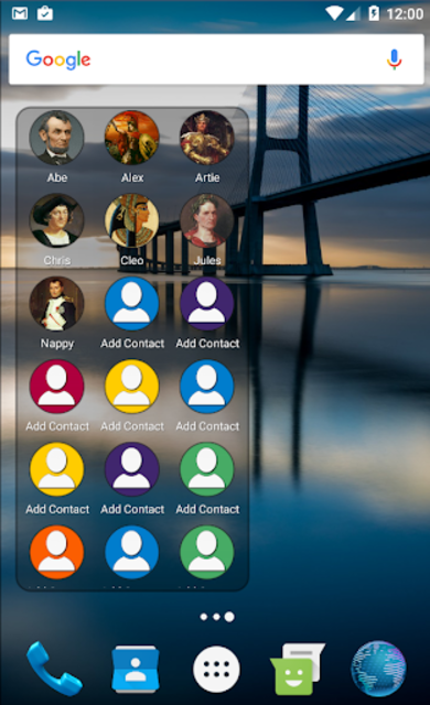 Mad Contacts Widget screenshot 2