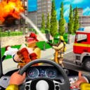 Icon for Firefighters Rescue Simulator: Fire truck driving