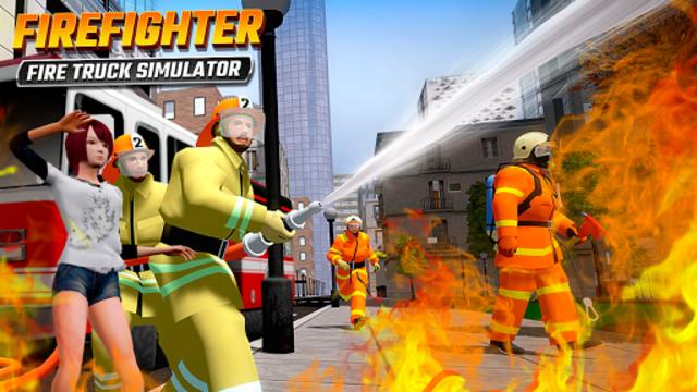 Firefighters Rescue Simulator: Fire truck driving screenshot 1