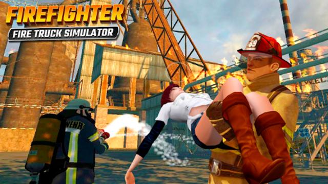 Firefighters Rescue Simulator: Fire truck driving screenshot 2