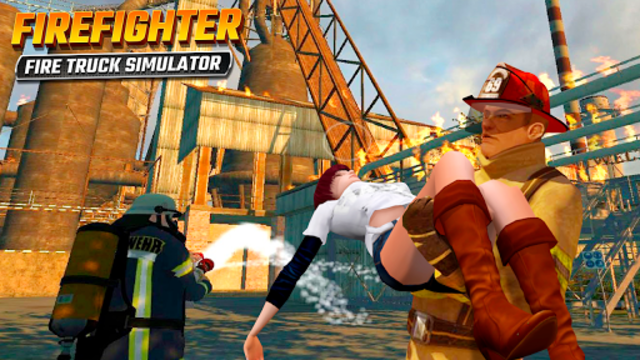 Firefighters Rescue Simulator: Fire truck driving screenshot 6