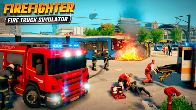 Firefighters Rescue Simulator: Fire truck driving screenshot 8