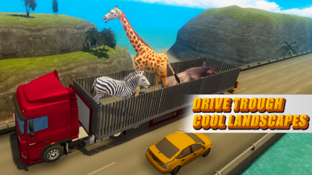 Zoo Animal Transport Truck screenshot 1