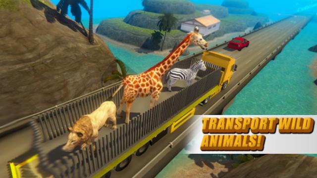 Zoo Animal Transport Truck screenshot 3