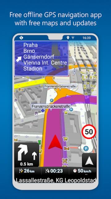 MapFactor GPS Navigation Maps screenshot 1
