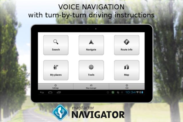 MapFactor GPS Navigation Maps screenshot 10