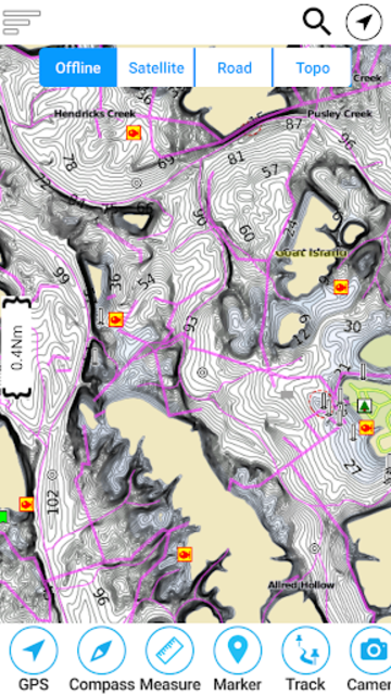 Dale Hollow Reservoir -Tennessee Offline GPS Chart screenshot 1