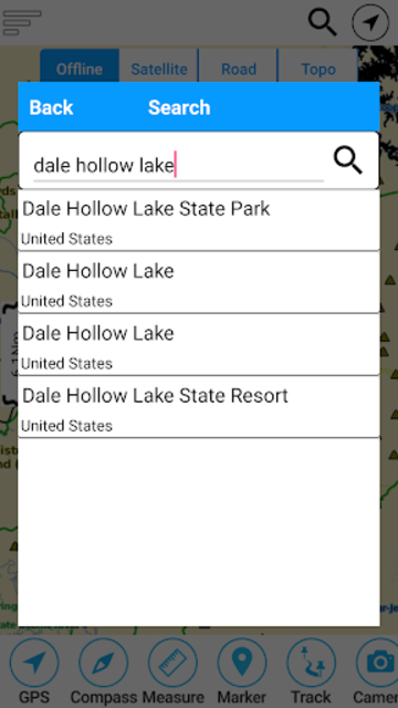 Dale Hollow Reservoir -Tennessee Offline GPS Chart screenshot 2