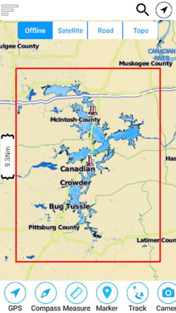 Eufaula Lake - Oklahoma Offline GPS Fishing Charts screenshot 8