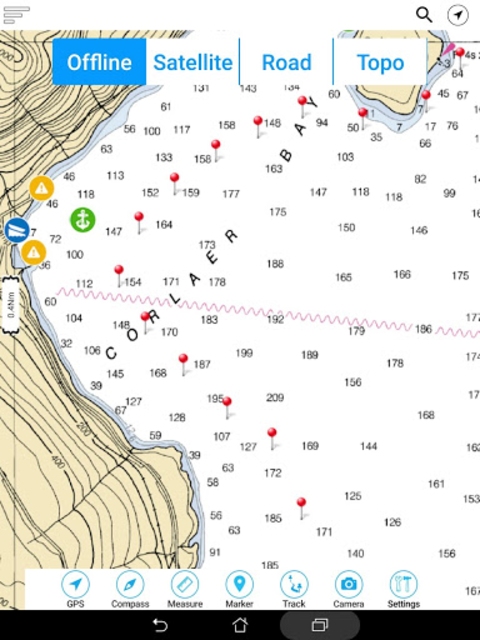 Eufaula Lake - Oklahoma Offline GPS Fishing Charts screenshot 18