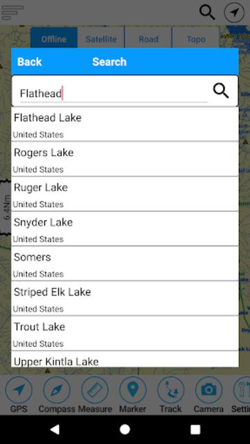 Flathead  Lake Offline GPS Nautical Charts screenshot 2