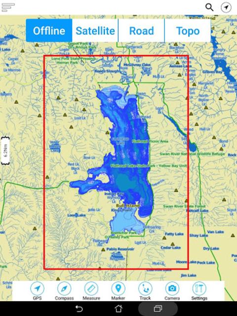 Flathead  Lake Offline GPS Nautical Charts screenshot 22