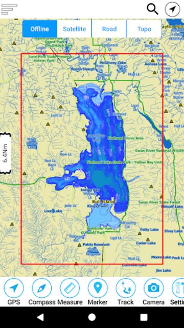 Flathead  Lake Offline GPS Nautical Charts screenshot 8