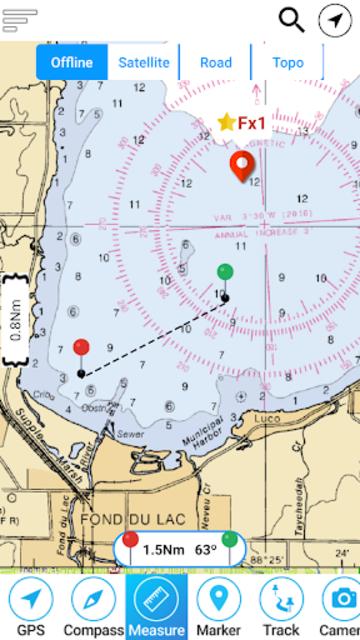 Champlain lake Offline GPS Nautical Charts screenshot 3