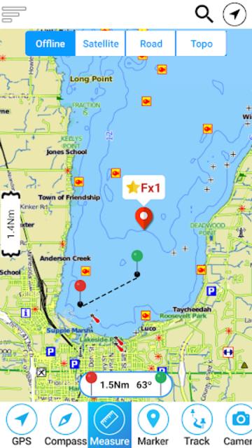 Champlain lake Offline GPS Nautical Charts screenshot 1