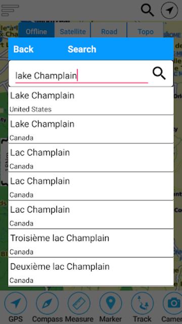 Champlain lake Offline GPS Nautical Charts screenshot 2