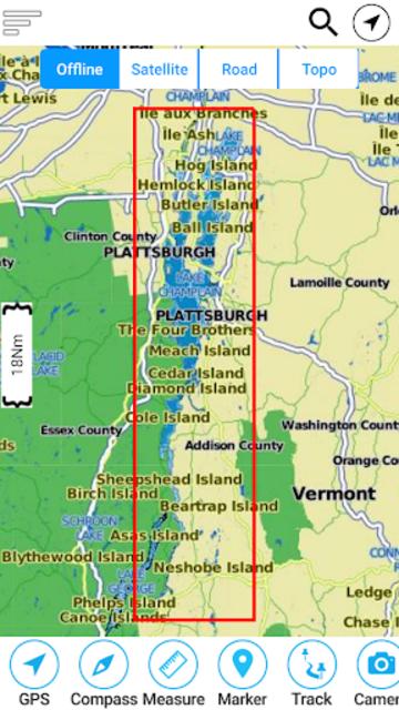 Champlain lake Offline GPS Nautical Charts screenshot 8