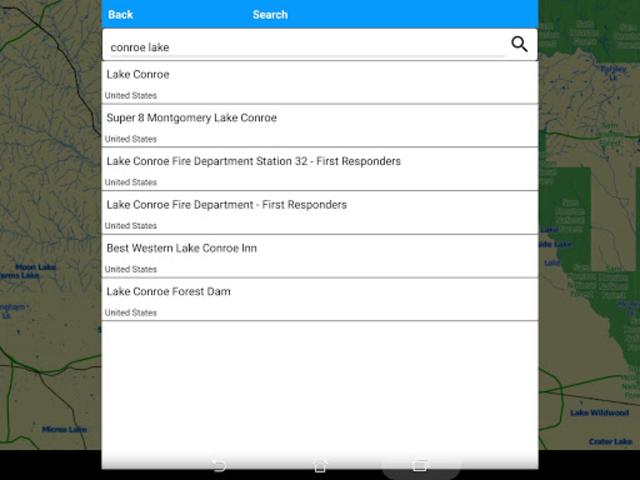 Lake Conroe Offline GPS Charts screenshot 10