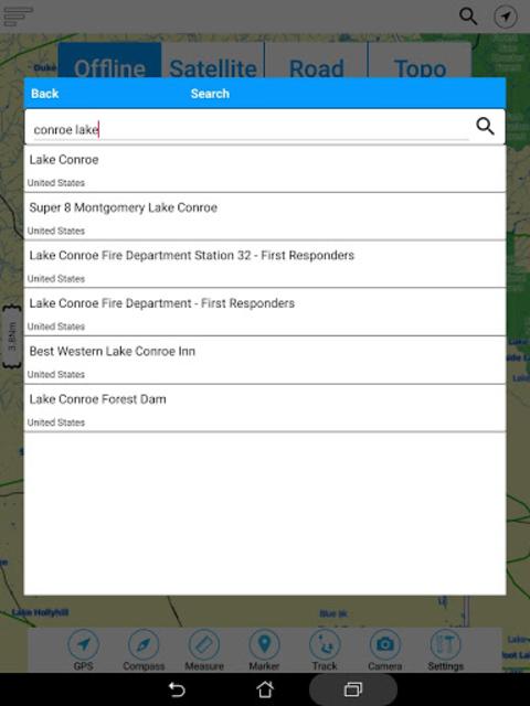 Lake Conroe Offline GPS Charts screenshot 16
