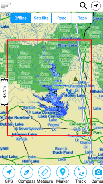 Lake Conroe Offline GPS Charts screenshot 8