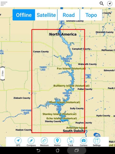 Lake Oahe - South & North Dakota Offline GPS Chart screenshot 12