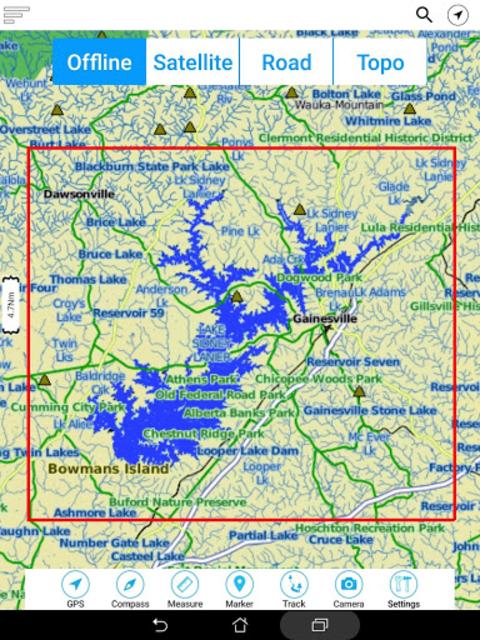 Lake Sidney Lanier GPS Charts screenshot 22