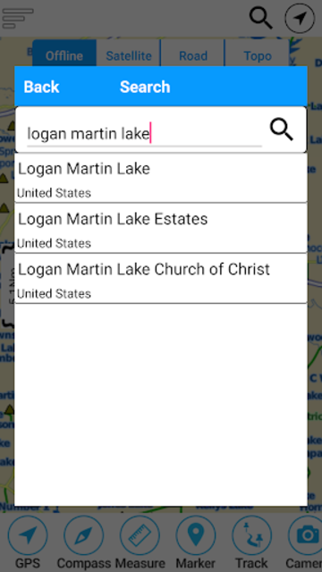 Logan Martin  Lake  - Alabama Offline GPS Chart screenshot 2
