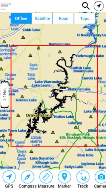 Logan Martin  Lake  - Alabama Offline GPS Chart screenshot 8